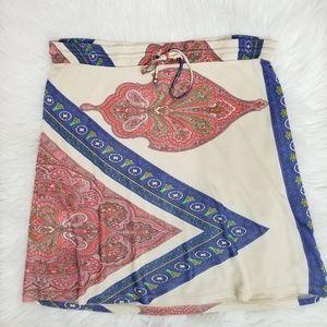 Anthropologie Skirts - Leifnotes Silky Drawstring Paisley Skirt